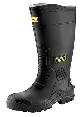 JCB Mens Hydromaster Black  Wellington WATERPROOF SAFETY Various Size HYDRO/B