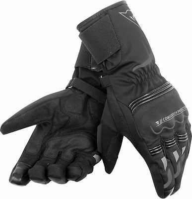 New Genuine Dainese Tempest Black Long  D - Dry Waterproof Motorcycle Gloves