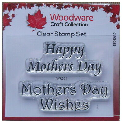 Woodware  Clear Stamp Set HAPPY MOTHERS DAY mothers x 2 stamps