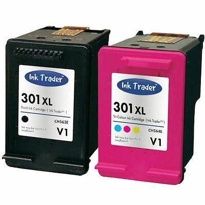 HP 301XL Black & Colour Ink Cartridges - Latest V1 for HP Envy 5530