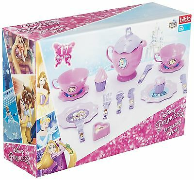 Disney Princess 17 Piece Girls Tea Set Toy Kids Activity Playset Gift New