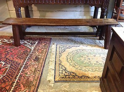 STUNNING RARE OAK & ELM COUNTRY SIDE BENCH SEAT 6ft LONG - CIRCA MID 1700s
