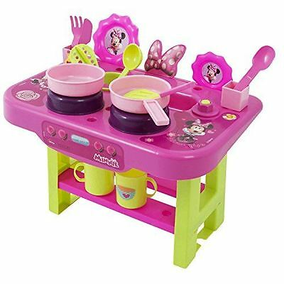 Official Disney Minnie Mouse Small Kitchen Childrens Activity Playset Kids Toy
