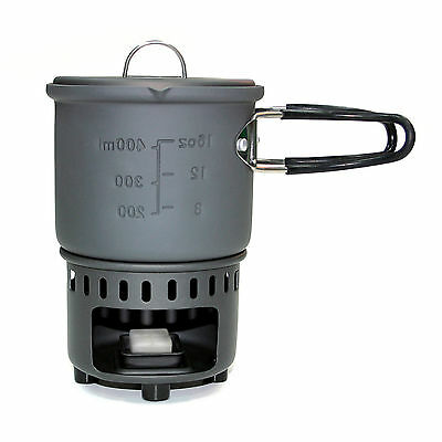 Esbit 585ml Cookset Stove With Solid Fuel Hexi Bushcraft Camping Cooker Survival