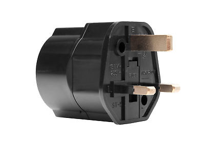 Reisestecker De Auf Uk Adapter England Schukostecker 3-Polig Gb Reiseadapter Bk