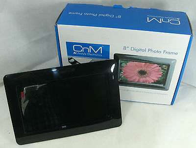 """CnM 8"""" inch digital photo frame Boxed Working"""