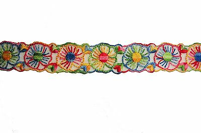 "Unotrim 1.75/"" Sheer Organza Multi-color DIY craft Embroidery Lace Trim By Yard"