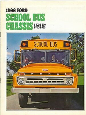 1961 Ford School Bus Chassis B-500 B-600 B-700 B-750 Dealer Sales Brochure
