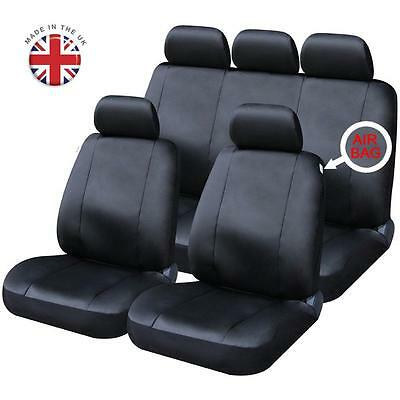 JEEP - FULL SET OF BLACK LEATHERETTE CAR SEAT COVERS Cherokee Commander Compass