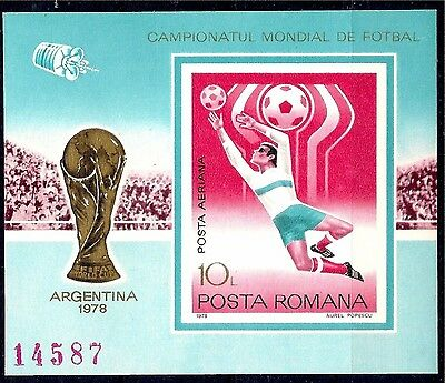 Romania 1978 Argentina Football World Cup/WC Players Sport Soccer Imperf m/s MNH