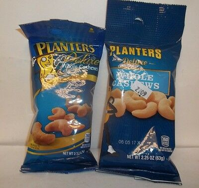 20 PACKS Planters Deluxe Whole Cashews - 2.25 oz each Exp.02/17 & 06/17