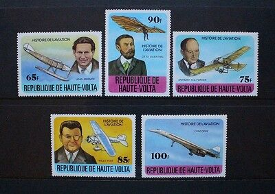 UPPER VOLTA 1978 Aviation Concorde. Set of 5. Mint Never Hinged. SG475/479.