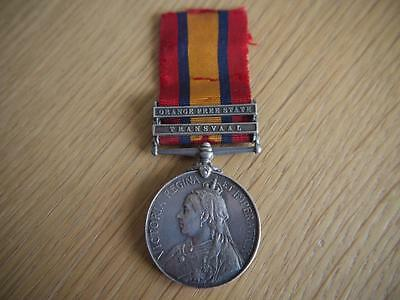 RARE GENUINE VICTORIAN QUEENS SOUTH AFRICA 2 CLASP MEDAL L ROBERTS 18th HUSSARS