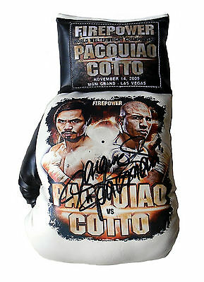 "MANNY ""PACMAN"" PACQUIAO Signed Bespoke Boxing Glove COTTO"