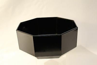 Arcoroc Octime Serving Bowls  Octogonal Arcoroc France Black Glass Salad  Bowls