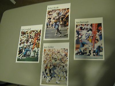 Official NFL Mini Posters Houston Oilers Set (4)!! Earl Campbell, Ken Stabler!!