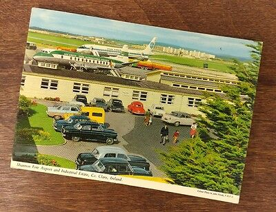 1960's Stamped Clare, Ireland John Hinde Aviation Airport Airplanes Postcard