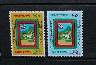 BANGLADESH 1981 Asia-Pacific Scout Jamboree. Set of 2 Mint Never Hinged SG167/68
