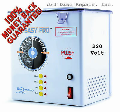 220 Volt JFJ Easy Pro Plus CD/DVD Repair Machine with Extra Supply Kit