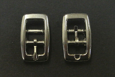 10mm Caveson Buckles Nickel Plated x2,x5,x10 For Webbing,Straps,Dog Collar,Belts