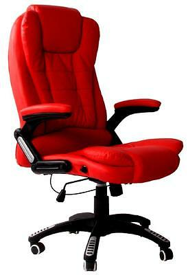 Red Reclining Massage Faux Leather Office Desk /computer Table Executive Chair