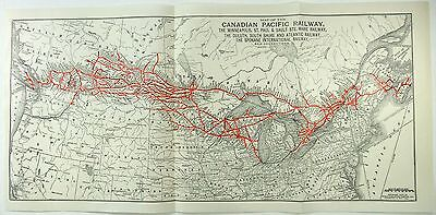Original 1927 Map of the Canadian Pacific Railway