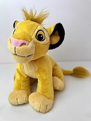 "Disney The Lion King Simba Plush Toy 13"" Stuffed Animal Soft Embroidered Cub"