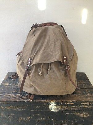 M39 Swedish Army Army Backpack Rucksack Canvas Vintage