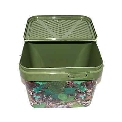 new NGT10 litre camo bait bucket hinged lid for boilies and pellets carp fishing