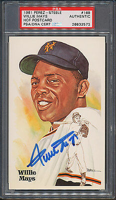 1981 Perez-Steele HOF #168 Willie Mays PSA/DNA Certified Authentic Auto *2573