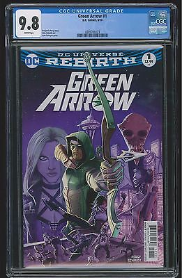 Green Arrow #1 (CGC 9.8 NM/MT) (DC 2016) Sold Out 1st Print! Rebirth!