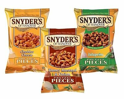 Snyders Pretzel Pieces Mxd Case 30x56g (Mixed Between 3 Flavours)