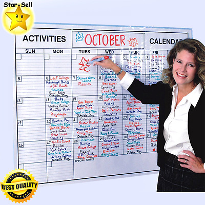 Laminated Wall Calendar Office Planner Big Dry Erase Board Activities Organizer
