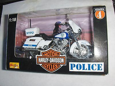 Toy Maisto 1:18 Harley New York Police Dept Motorcycle series 4 Diecast NYPD