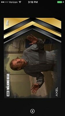 Topps AMC The Walking Dead Fortitude Gold Axel Digital