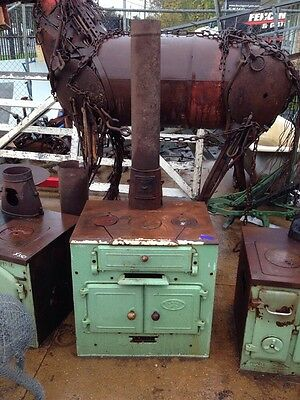 Antique Planet No 2 Wood Stove Wood Fire Enamel Pizza Oven Green