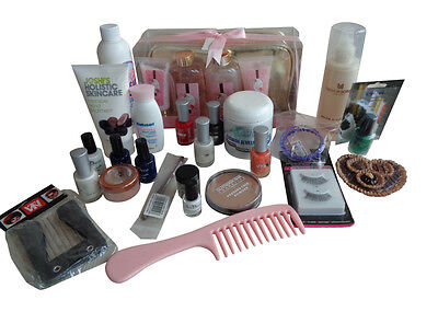 Job Lot Of  Make Up Beauty Items With Rose Bath Set With Bag £19.99 Ono