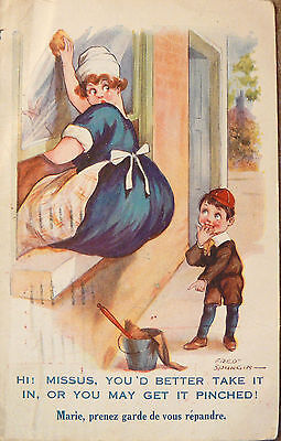 POSTCARD - COMIC: by FRED SPURGIN DATED 1921