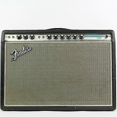 Vintage 1968 Fender Drip Edge Deluxe Reverb Silverface 1x12 AB763