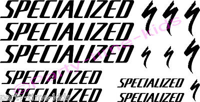 Specialized Mountain Bike Frame vinyl Decals Stickers  MTB Downhill