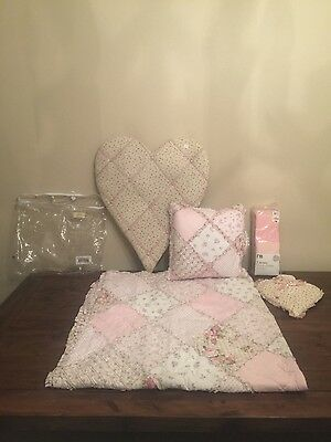 Cot Bed Quilt  (Claire & eef ) with Matching Cushion & Accessories! NEW!