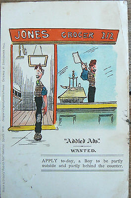 Postcard - One From 'addled Ads'. Wanted, Boy To Split Himself In Two! Post1903