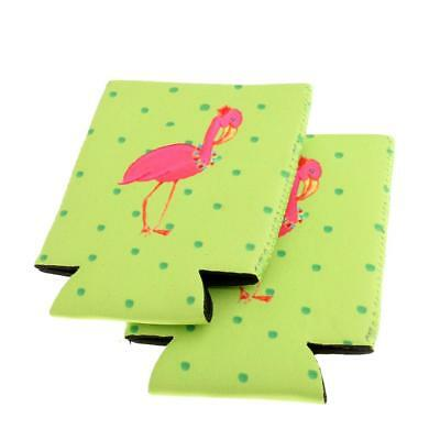 1 Pair Neoprene Tropical Flamingo Beer Cover Cooler Wrap Holder Party Favor