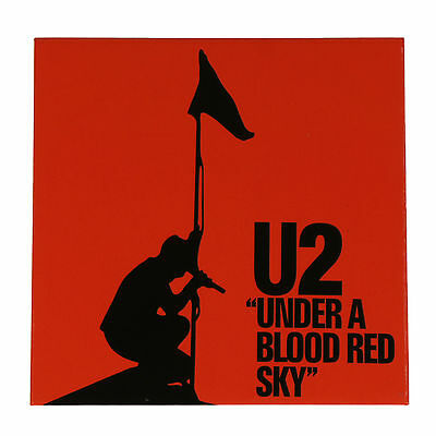 """Authentic U2 Under A Blood Red Sky 3"""" x 3"""" Fridge Magnet SEALED Band NEW"""