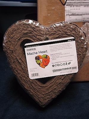 "Oasis Floral Foam 12"" Mache Open Heart 2 Per Pack!"