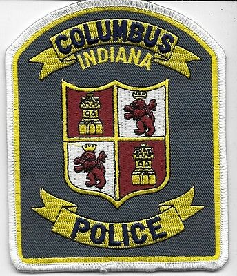 Columbus Indiana In Ind Police Dept Castle Loin Crown Cpd Pd Local State County