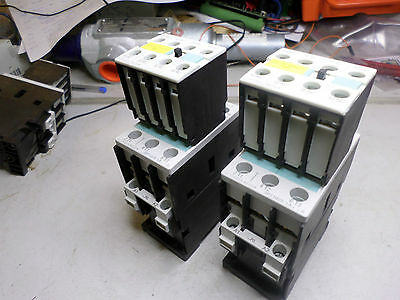 SIEMENS SIRIUS CONTACTOR - Qty of 2 - 7.5kW w/Aux Block  3RT1025-1AP0 230V Coils