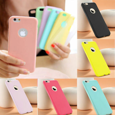 COVER CUSTODIA in TPU SILICONE OPACA ULTRA SLIM per Apple Iphone X 10 8 6 7 Plus