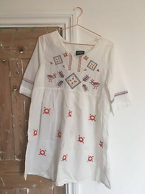 Vintage White Dress. One Size But Probably Good For 8-12
