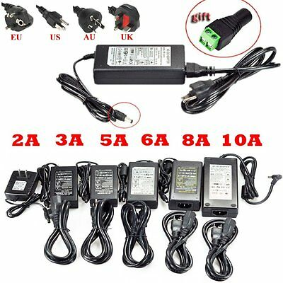 12V 2A/3A/5A/6A/8A/10A  DC Power Supply Charger Transformer Led Strip Lights Hot
